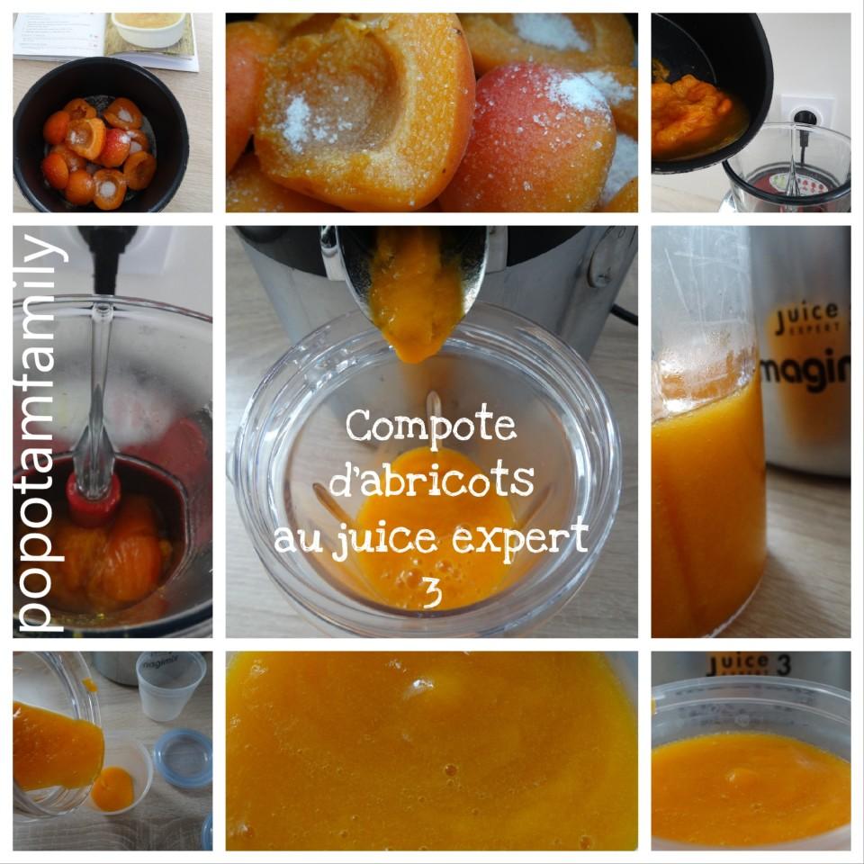 Compote d'abricots au Juice expert 3 de magimix